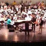 orchestra rehearsal at Raue Center