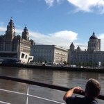 The amazing Liverpool waterfront at start of cruise.