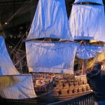 Large model of the Vasa, showing how she looked fully rigged.