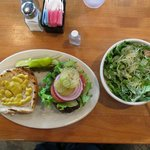 Excellent No. 30 on a wheat bun w/ an equally excellent Cesar salad