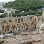 Odeum of Herodes Atticus  veiwed from the Acropolis