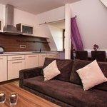 Purple one bedroom apartment