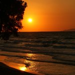 Strand-Stimmung bei Sonnenuntergang