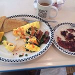 Very good omelet and hash