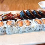 Spicy Tuna and Shrimp Tempura rolls