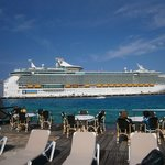 cruise ships, block views and take over resort