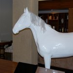 A horse in the lobby