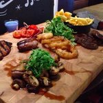 Meat sharing platter at Adam & Eve in Hotwells, Bristol