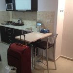 Kitchen with cooking amenities