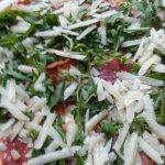 pizza rocket,Parmasan, ham
