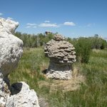 Tufa on the north side of the lake