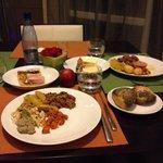 Tres bon buffet varié du soir...