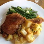 Duck with potatoes