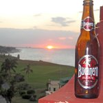 Sunset with a bottle of chilled Bucanero