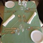 Eindeckung für das Abendbuffet