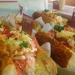 Lobster baguette salad :p