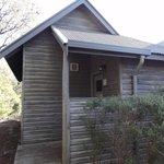 Entrance to studio cabin