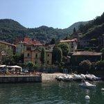 View of Villa Toretta as approach on ferry
