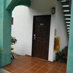 Front door of Room