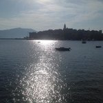 Early morning view of Korcula Town