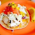 This is one delicious fish taco!