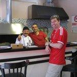 Sahin with the grill Guru!