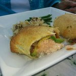 Salmon wrapped in puff pastry ; awesome