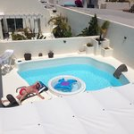 Veiw of the pool from the roof