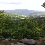View of mountains from atop Mt Tom