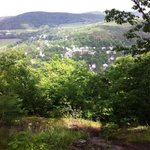Looking down on Woodstock from atop Mount Tom