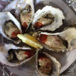 1/2 doz. garlic butter oysters