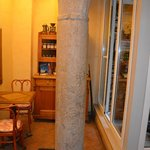 Ancient Roman column in lobby