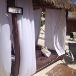 Private Cabana with your name on the sign