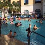 Crowded pool