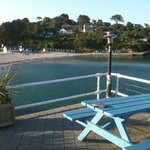View of Swanpool Beach from the terrace
