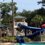 Garden pool slide. Very fun