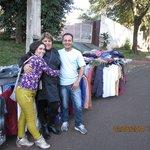 Wilian e esposa, casal muito simpático, tentando ganhar a vida, no comércio informal, na frente