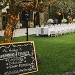 Dinner set up by Vara wedding