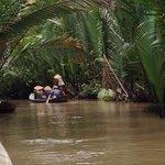 Long boat on Mekong delta