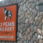 The resort's signage