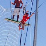 Soaring on the trapeze