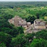 Exploring Mayan ruins in Ek Balam