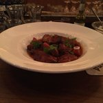 Braised pork and vegetables stewed in a red wine sauce. Exquisite!