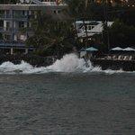 waves crashing on the rock