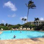 Poipu Sands pool.  8 foot at the deep end