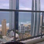 Long balcony, great veiw!