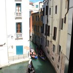 Views of 2 canals and passing gondolas from our room