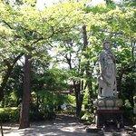 Estatua no jardim do templo Zojoji