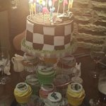 Beautiful birthday cake made for my Son by Diane at cupsncakes.