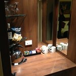 Mini-bar. The light here is better than the bathroom. lol